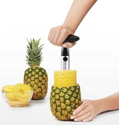 Pineapple Peeler Corer Slicer silver one size