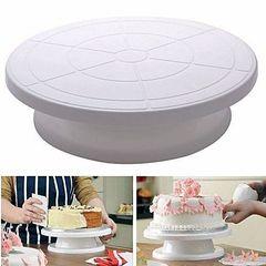 Cake decorating turntable white