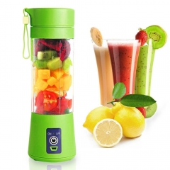 Personal Portable Blender Juicer Cup / Electric Fruit Mixer / USB Juice Blender, Rechargeable 380mL green