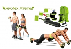 Revoflex xtreme Total Body Fitness Gym Abs Trainer Resistance Abdominal Trainer Body Tonning Machine black