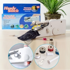 Electric Portable Handheld Sewing Machine Travel Household Cordless Stitch Quick Stitch white normal