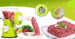 Meat Mincer Bean Garlic vegetable Mincer Sausage Maker Multipurpose Mincer Stainless Steel Blade green normal
