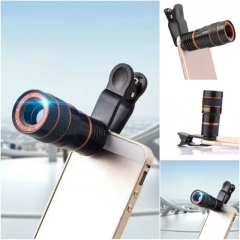 Professional cell phone telescopic lens 12X optical zoom black normal