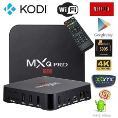 MXQ Pro Smart 4K Android TV Box + Preinstalled Apps -Google Play,Youtube,Netflix,Hdmi cable,Remote