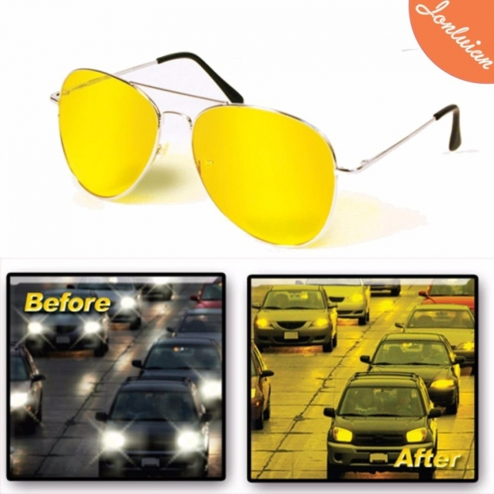 12f18581a97 Night Vision Glasses Anti Glare Light Night Driving Glasses Polarized Night  Vision Driving Glasses yellow normal