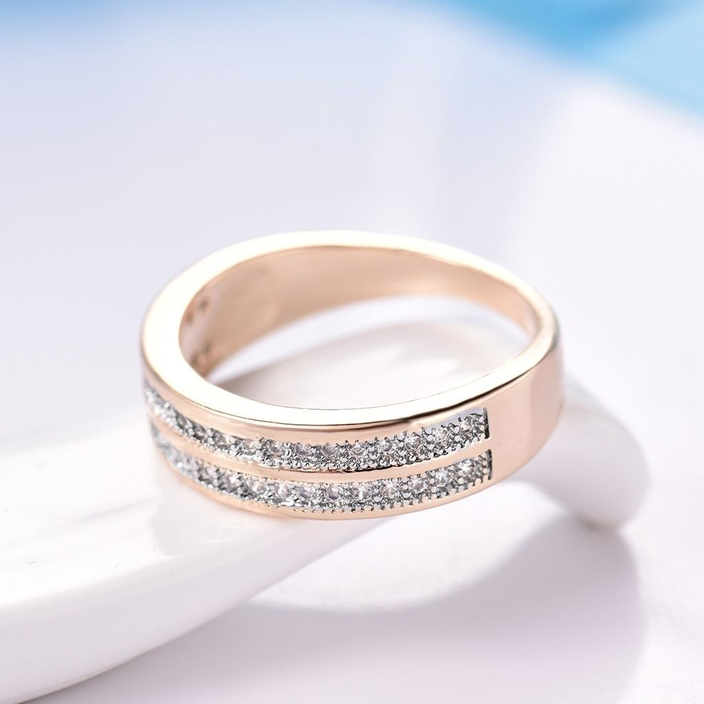 d2d3fb5d11 18K Gold Platinum Filled Lady Couple Sparkly Sapphire Crystal ...