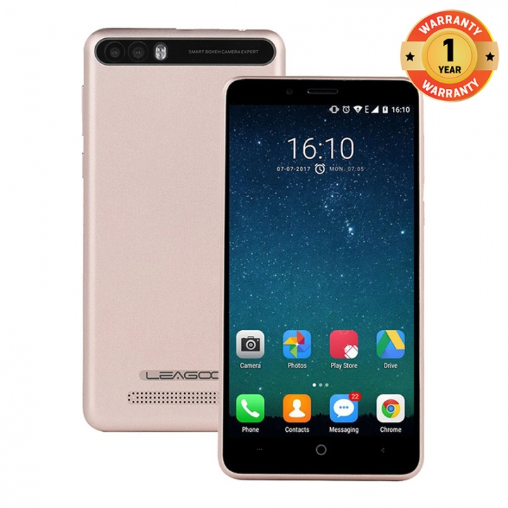 "LEAGOO P1 PRO, 5.0"" Screen, 8MP + 2MP, 2GB RAM + 16 GB ROM, 4000MAh, Smartphone champagne gold"