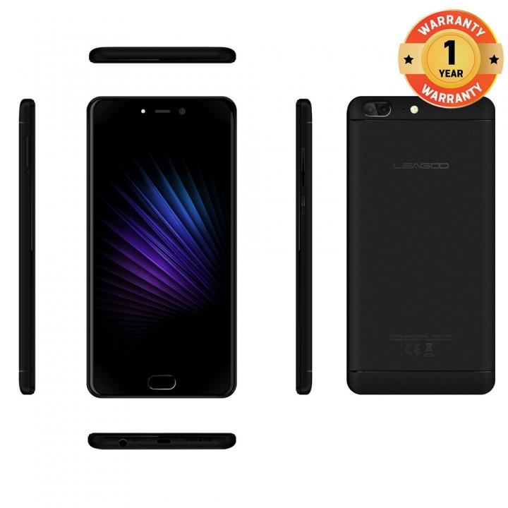 """LEAGOO T5, 5.5"""" , 13MP + 13MP, 4GB RAM + 64 GB ROM, 3000mAh, Smartphone Elegance Black"""