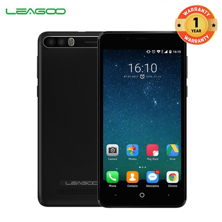 "LEAGOO P1 PRO, 5.0"" Screen, 8MP + 2MP, 2GB RAM + 16 GB ROM, 4000MAh, Smartphone elegance black"