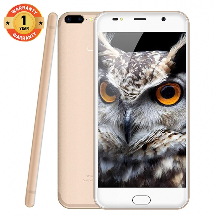"LEAGOO M7, 5.5"" Screen ,8MP + 5MP Dual Camera, 16GB ROM + 1GB RAM, 3000mAh Battery, Smartphone champagne gold"