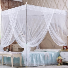 New European Court Style Three Doors Mosquito Net white 6*6