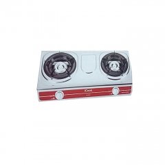 2 Burner Gas Cooker- Stainless Steel- Silver