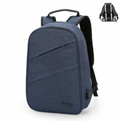 Classic design computer antitheft laptop bag- anti theft grey