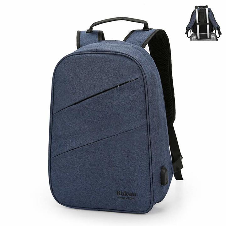 Classic design computer antitheft laptop bag- anti theft grey