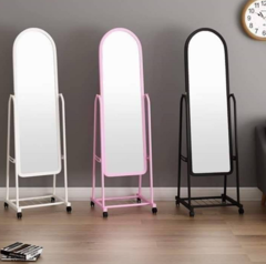Movable Standing Dressing mirror White