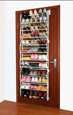 36 pairs Over the Door Hanging Shoe Rack White