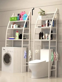 Large Space Saver Bathroom Organizers white