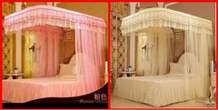 2 Stand Mosquito Net With Sliding Rails pink 6*6