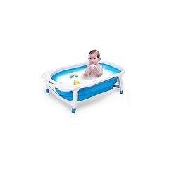 Portable Foldable Baby Basin Bath with Tub Portable blue 84*50*20 stretched