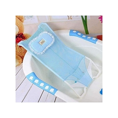 Baby and Infant Antiskid Bathtub Shower Seat Net Mesh for Kids Support blue 90*65cm