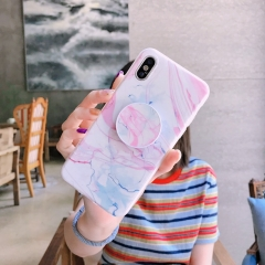 AXBETY fashion Marble silicon Case For iPhone 7 6S 6 Plus 8 Plus X Cute Stand Holder Phone Cover #A1 for iphone 7 plus 8 plus  (5.5