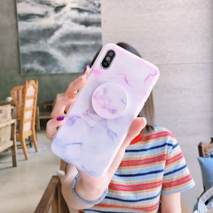 AXBETY fashion Marble silicon Case For iPhone 7 6S 6 Plus 8 Plus X Cute Stand Holder Phone Cover #A2 for iphone i7 i8 (4.7