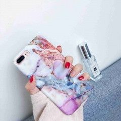 Fashion Gold Glossy Marble Phone Cases For iPhone X 7 6s 8 Plus hard PC Case H16 for i6 6s plus