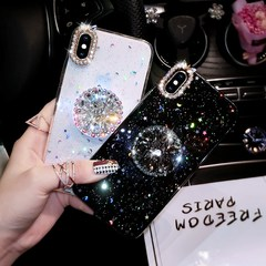 For OPPO F1s/A57/F5/A83/A79 Luxury Glitter Diamond Cover Rhinestone 3D Grip Stand Holder Phone Cases transparent for oppo f1s/a59