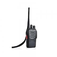 BF- 888S Walkie Talkie Single Band Two Way Radio Interphone - Black black