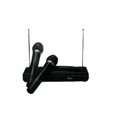 2 Channel Wireless Microphone System - Black black new
