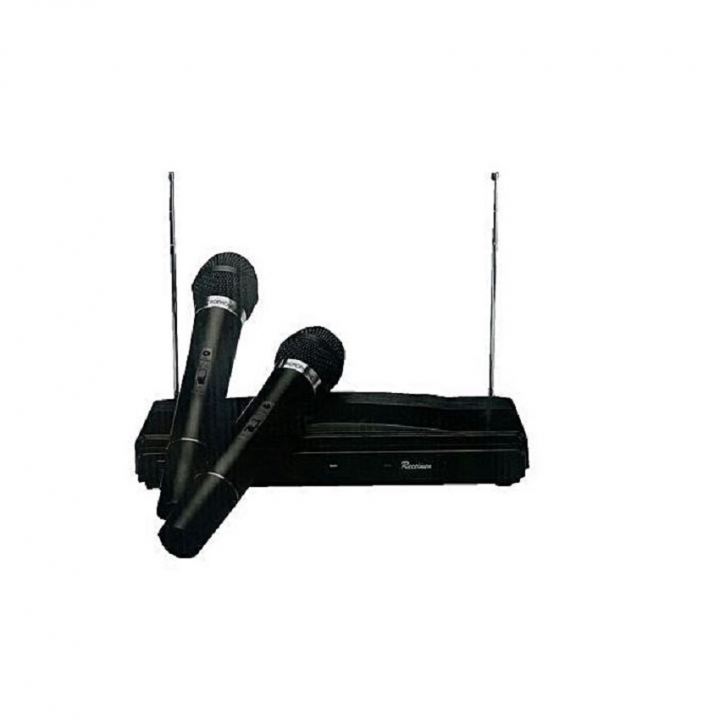 2 Channel Wireless Microphone System - Black black new