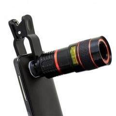 Universal 8X Zoom Mobile Telescope Lens Telephoto External Smartphone Camera Lens Valentines Gift Black One Size
