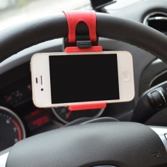 Steering Wheel Phone Holder Car red one size