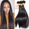 High Quality 100% 7A Remy Brazilian Hair Straight Human Hair Weave Natural Black Color Natural black 10 inch