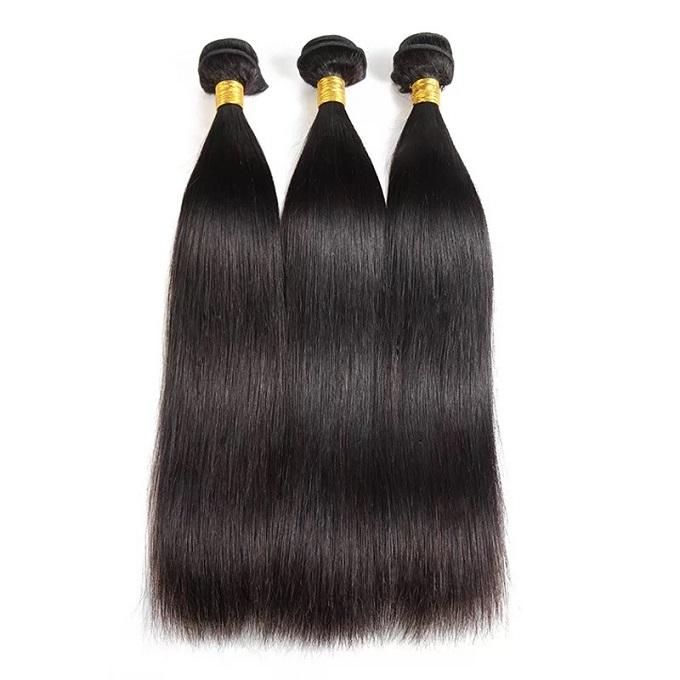 Brazilian Virgin Hair Straight Hair Weavon 8A Virgin Hair Unprocessed Human Hair Extension natural black 22 inch