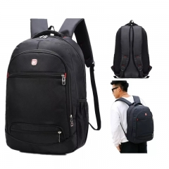 Laptop Backpack for Men Water Resistant Durable Oxford Casual Travel Business School College wideuse Classic Black one size