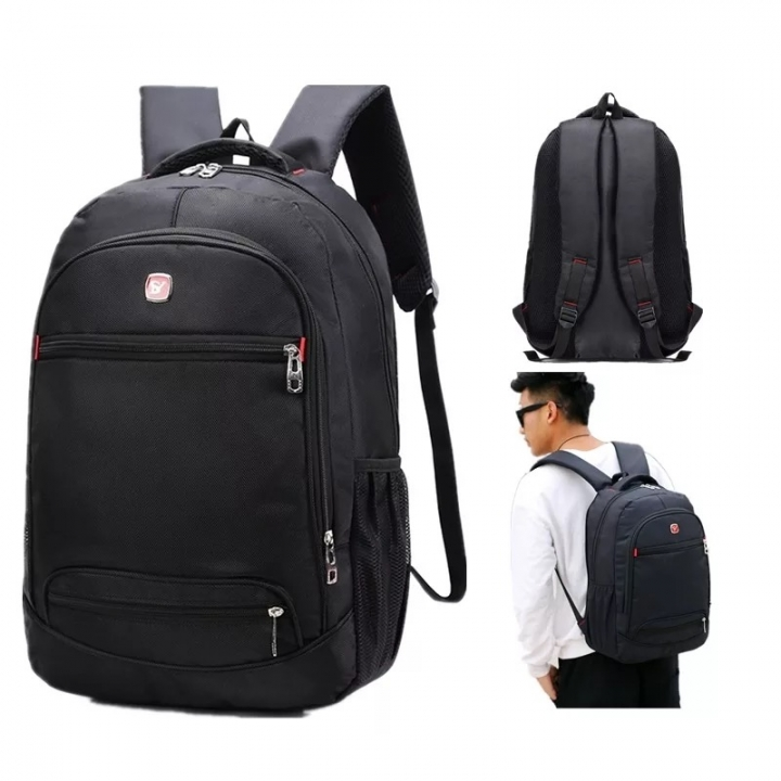 Laptop Backpack for Men Water Resistant Durable Oxford Casual Travel Business School College wideuse Classic Black 1 one size