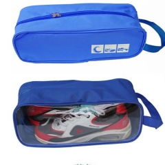 Portable Shoes Pouch Travel laundry Luggage Organizer zipper closure waterproof  Shoes Storage Bag Blue one size