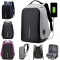 Anti-theft Security Unisex Laptop Notebook Backpack with USB Charging Port Waterproof & shock proof Purple Big Size