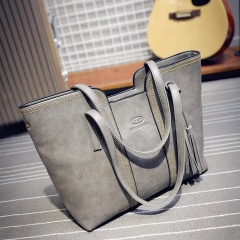 HUGE CAPACITY High End Bag shoulder crossbody bag for Women Lady European America popular bag grey 31x12x28cm
