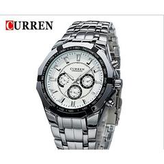 CURREN Switzerland brand 8023 sliver stainless steel SILVER MEDIUM