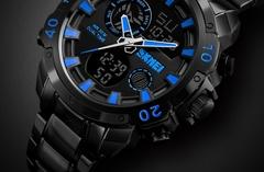 Skmei New Waterproof Men's Digital Dual Sports Watch 1306 - Black BLACK NORMAL