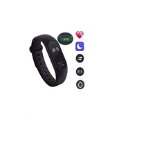 Generic Professional M2 Smart Wristband Fitness Heart Rate Monitor Smart Bracelet Watch - Blue blue/black/red medium