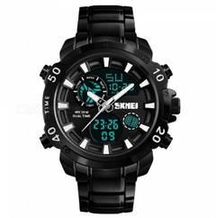 Skmei New Waterproof Metal Men's Digital Dual Sports Watch 1306 – Black black normal