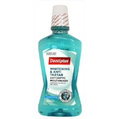 Dentiplus 500 ml Whitening and Anti-Tartar Antiseptic Mouthwash as in picture