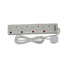 4-Way Socket Extension Cable - White white 1