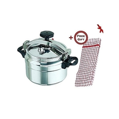pressure Cooker - Explosion Proof - 5 Litres + a FREE Gift Hand Towel silver 1