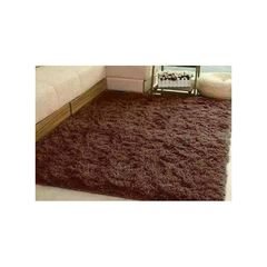 Fluffy Carpet - 7x10 Chocolate Brown chocolate brown 7x10