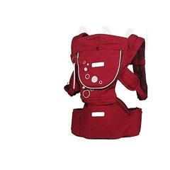 Generic Breathable Hipseat Baby Carrier Red -