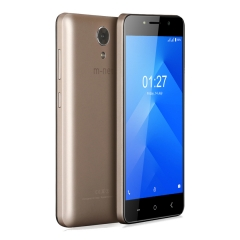 "m-net Power 1 5050mAh 5.0"" HD Android 7.0 1GB+8GB Quad Core Dural Camera Double Flash OTG Smartphone Gold"